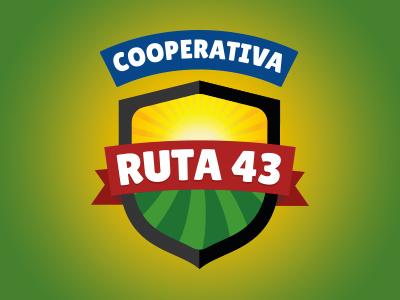 Logotype Ruta 43 handicrafts wood food cooperative marca logotype logo branding