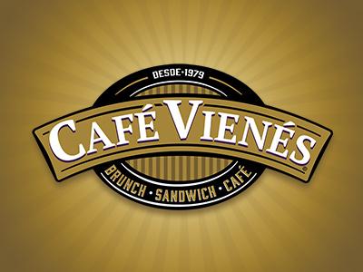 CAFÉ VIENÉS chile coffee brunch food marca logotype logo branding