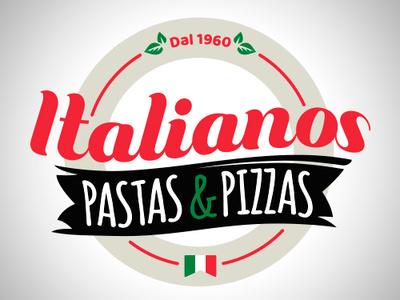 Italian Brand handlogo branding pizza italianfood logotype logotipo logo brand italian