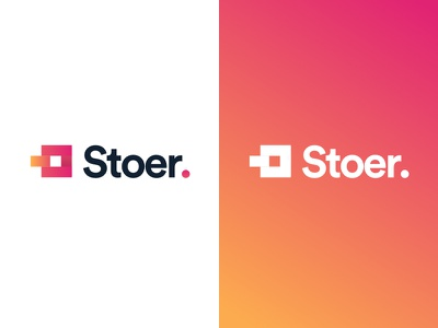 """Logo concept for """"Stoer"""" poppins piece puzzle gradient logo"""