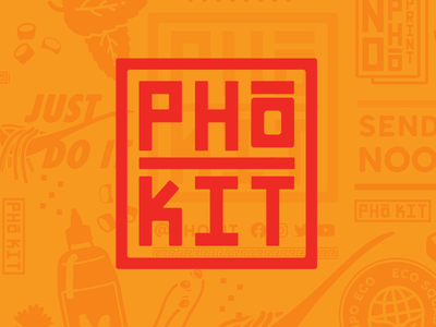 Pho-Kit Logo branding branding design vietnamese noodles pho logo pho branding pho asian food eco eco brand eco logo minimalist logo fast food fastfood restaurant branding restaurant logo restaurant logo