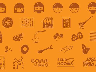 Phokit Icon Set pattern restaurant branding restaurant logo restaurant food branding food brand eco brand eco vector art icon design iconography icon set