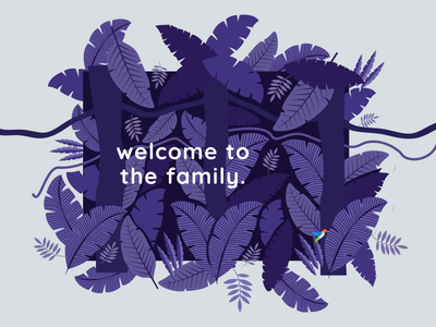 Welcome To The LuccaAM Family Card designer design jungle illustration jungle design leaves jungle pattern design pattern card design card branding design branding agency brand identity branding print design print illustration