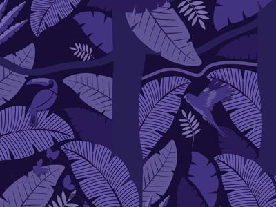 Wings of the World: Jungle Print card card design digital marketing agency digital marketing digital illustration ecommerce brand branding agency branding design branding brochure design leaves bird bird illustration jungle design design print design pattern vector illustration