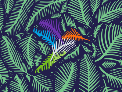 Summertime at LuccaAM logo brand identity branding printdesigner hummingbird palm leaves palm leaf summer summertime pattern vector art vector branding agency graphic design design poster print design illustration