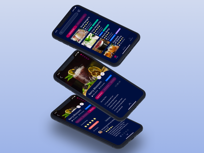 JUICE digital app recipe drinks bartending ios mobile ui mobile app design mobile design mobile app mockup mobile ui design uidesign ui  ux uiux ux ui dribbble design