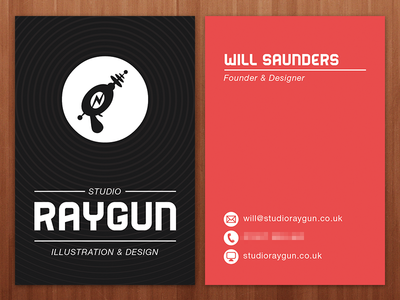 Raygun business cards