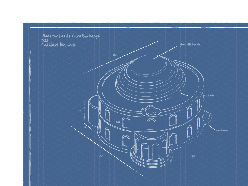 Leeds corn exchange blueprint by will saunders dribbble screen shot 2013 08 11 at 075025 malvernweather Choice Image