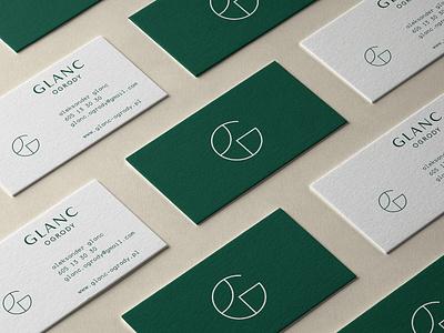 GLANC - GARDENS - Bussines cards business cards businesscard bussines card paper design gardens garden logotype minimalism logo branding