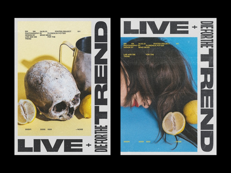 166 edgy editorial layout print poster die live