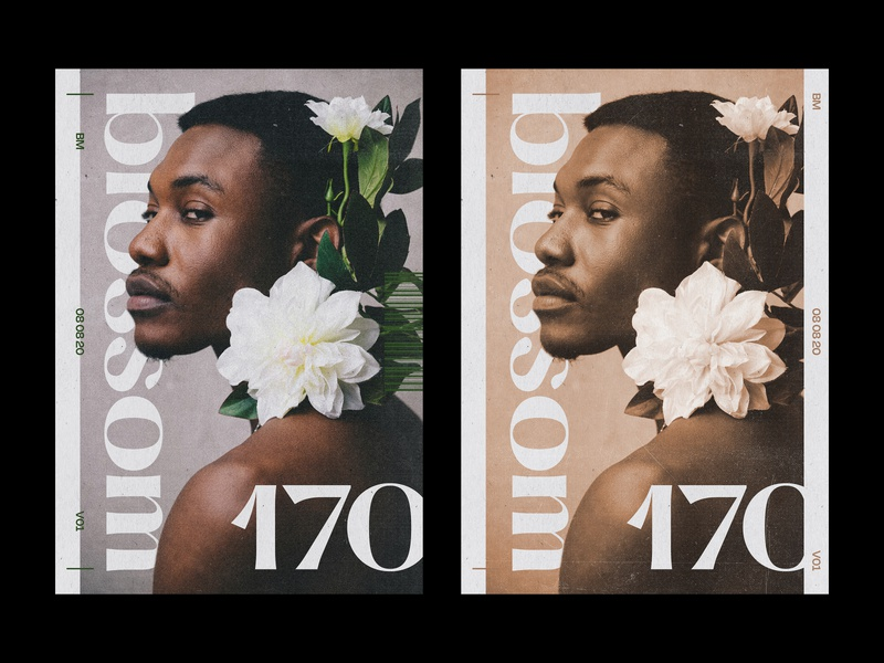 170 blossom cover magazine editorial layout print poster
