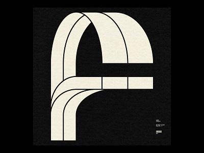 36 Days ― F swiss grid simple minimal typographic typography type f 36daysoftype 36days
