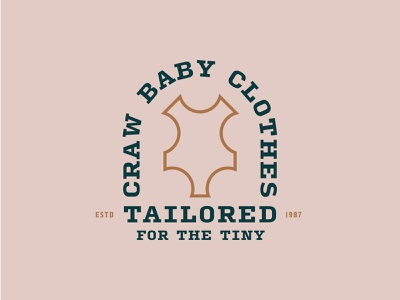 "Day 46: ""Baby Apparel Logo"" outline suit leather estd tiny tailored tailor badge hipster vintage dailylogochallenge dailylogo challenge logo daily day 46 apparel clothes baby"