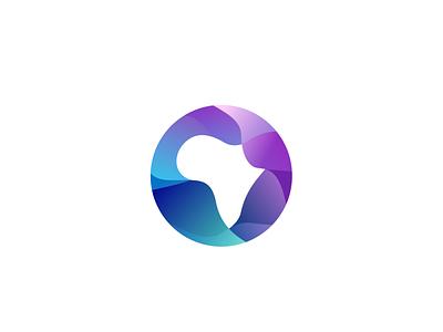 Africa Logo/Icon Concept colourful design colourful colorful illustration african logo africa logo logo design logo africa