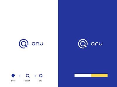 Anu anu pictoral mark branding blue logo modern logo design modern logo simple logo minimalist logo tech logo startup branding startup tech logo design logo