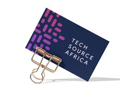 Tech Source Africa africa business card design design business cards