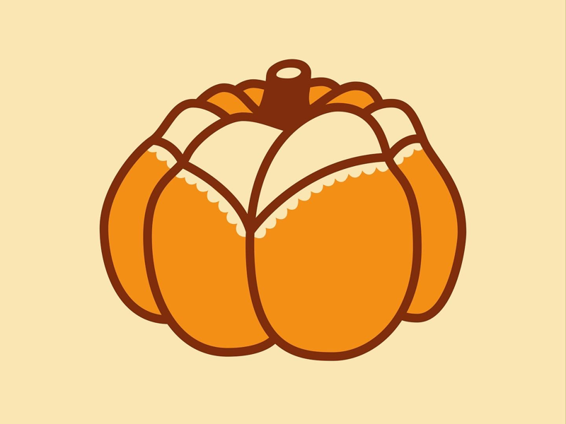 Slutty Pumpkin vector line minimal illustrator adobe art drawing graphic illustration design