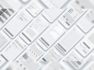 DDex app mid-fi wireframes