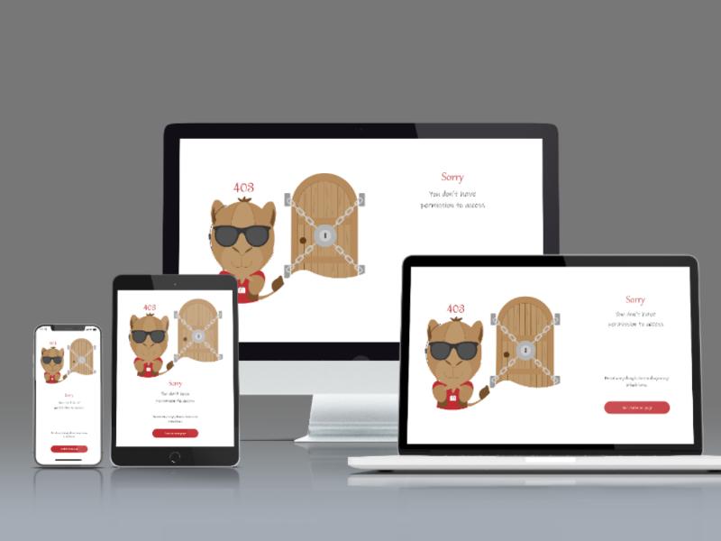403 error page error 403 responsive design responsive web design illustration xd