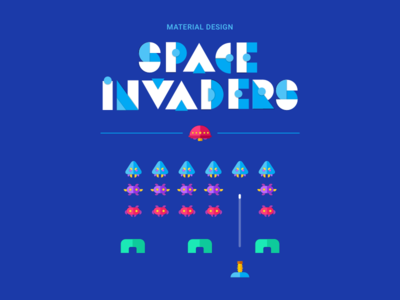 Material design space invaders by noam elbaz dribbble for Space material design