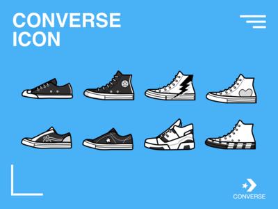 匡威鞋图标设计
