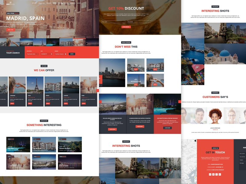 Unify Travel Theme unify template bootstrap tourism trip travel responsive unify