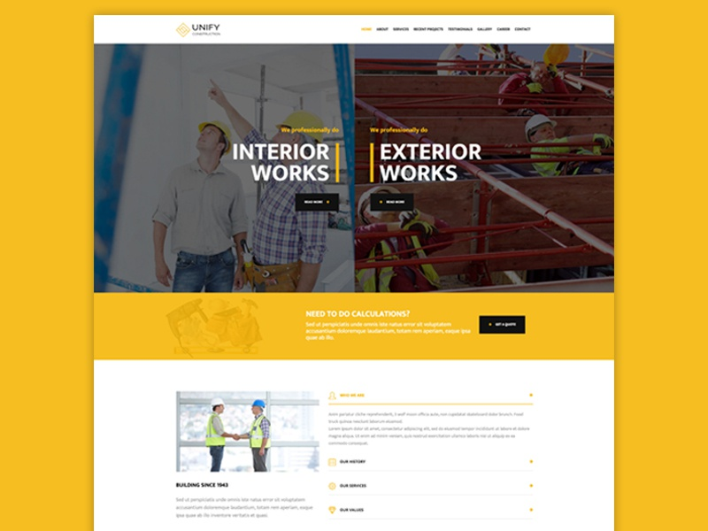Unify Construction unify template responsive bootstrap unify template theme construction