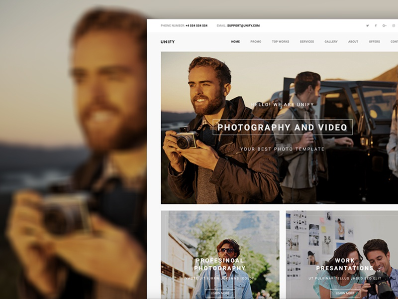 Unify Photography unify template unify photos htmlstream bootstrap album photographer photography
