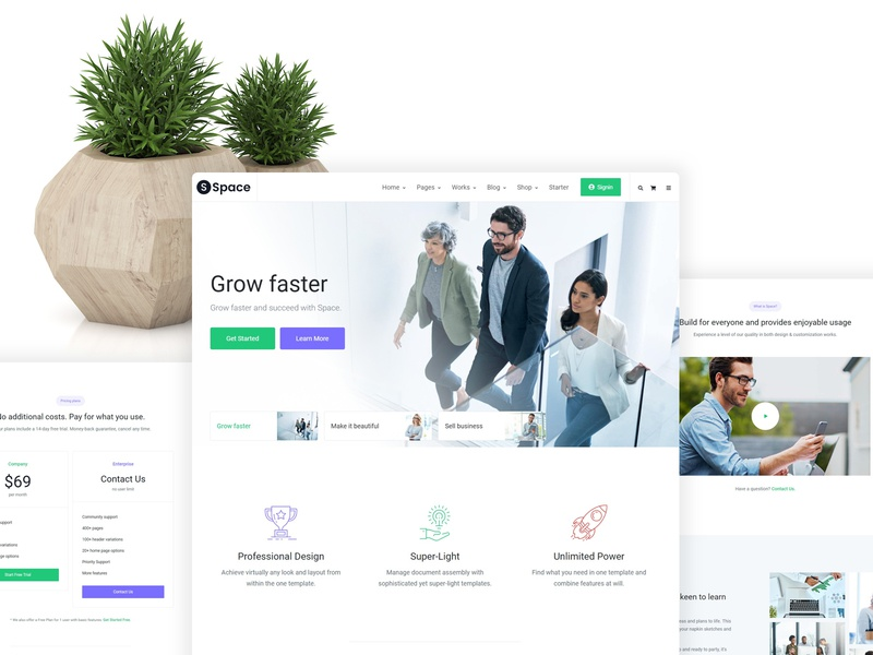 Space – Multipurpose Responsive Template design responsive theme landing pricing business corporate htmlstream bootstrap