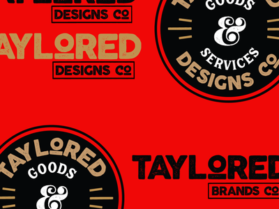 Taylored Designs Co and Taylored Brands Co ReBranding supplyco tees tee shirt logo design rebrand rebranding supply branding