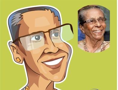 Sybil Weththasinghe design iris vector srilanka illustration comic caricature avatar