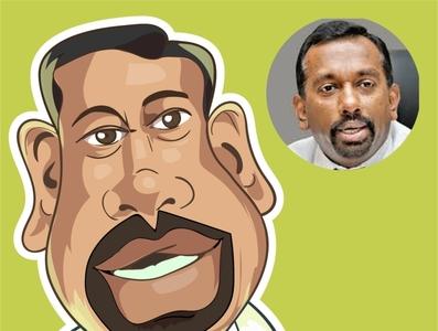 mahindananda caricature sri lankan political design vector srilanka iris avatar illustration comic mahindananda comics caricature sri lanka