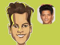 bruno mars avatars iris comic avatar comics illustration caricature vector