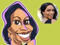 caricature of Rosario Dawson rosario dawson creative avatars actor comics design iris illustration comic vector caricatures caricature