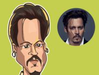 caricature of Johnny depp caricatures avatars comics design iris avatar illustration caricature vector comic