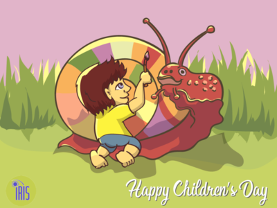 happy children's day children iris srilanka comics design illustration comic