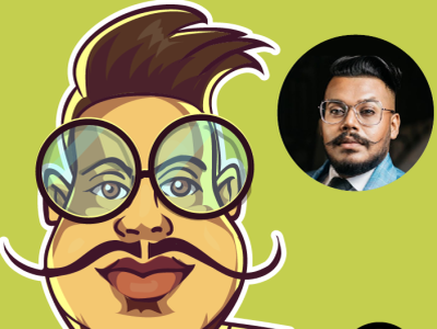 caricature of danu innasithamby cartoons cartoon caricatures srilanka design vector comics avatar illustration caricature