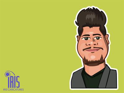 Sanuka avatar design vector illustration iris music comic caricature srilanka