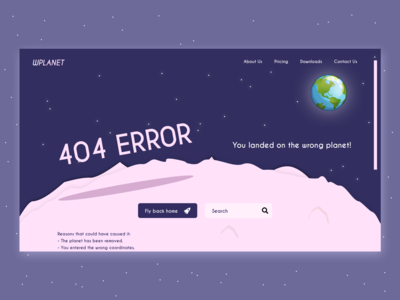 Daily UI #008 - 404 Error