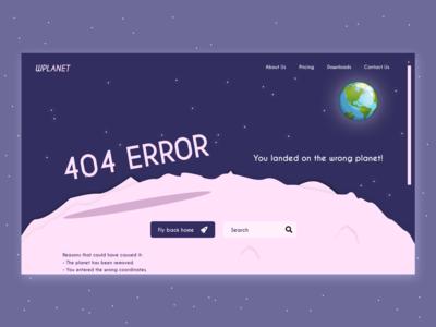 Daily UI #008 - 404 Error