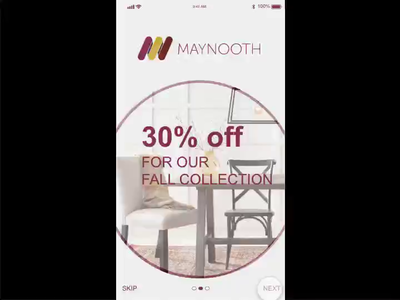 Micro interaction for mobile app (furniture store)