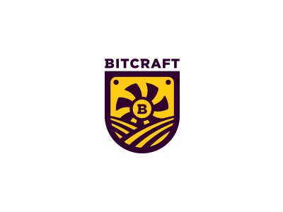 Bitcraft letter b cooler crypt farm mine mining bitcoin
