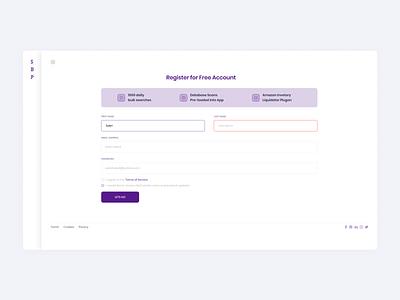 Secret Book Price - Register Page ajax gif uiux ui purple label form registration form registration login figma singup register