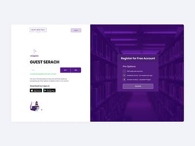 Secret Book Price - Landing Page register different development developers ux adobe xd ui design web design uiux figma ui