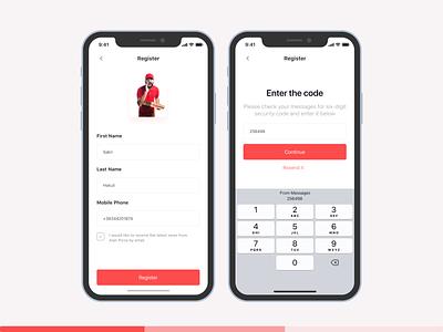 Alan Pizza | Register Form development developers ui design uiux figma app design uidesign apple ux ui pizza pizza menu pizza box app pizza logo