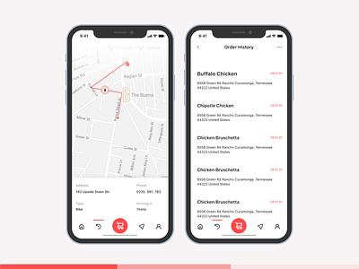 Alan Pizza | Map ui design uiux figma ui maple designer product designs mobile app food pizza mapping maps design map