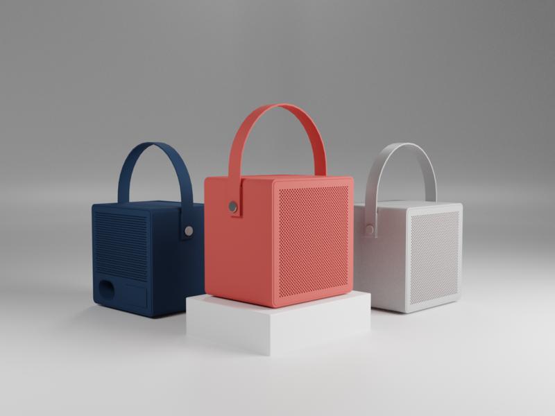My Rålis red minimalism design minimal speaker ralis urbanears illustration blender 3d