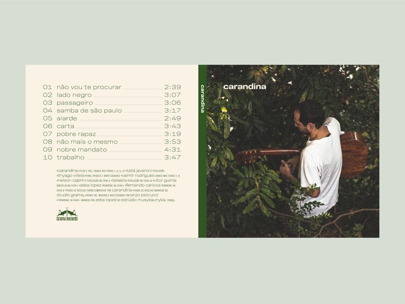 Carandina Album music player guitar variable type florest green vinila album music