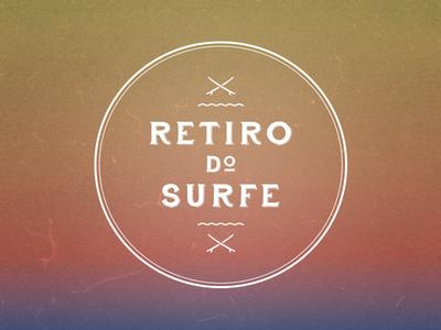 Retiro do Surfe surf branding marca gradient wave calm
