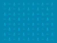 anchor and wave pattern